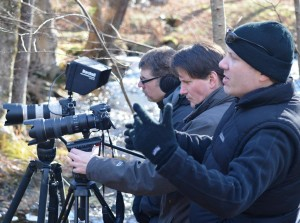 Darryl Leblanc, John Rosborough and Paul Kimbal on location.